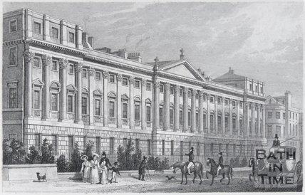 Part of Queen Square, Bath, 1829