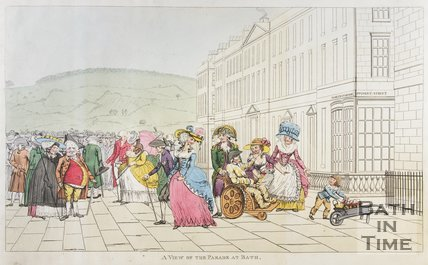 A view of the Parade at Bath, c.1787