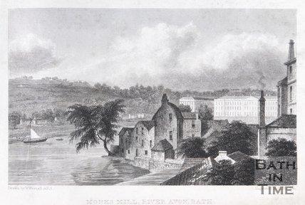 Monks Mill, River Avon Bath, 1830