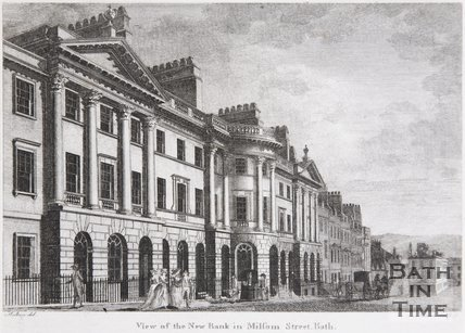 View of the New Bank in Milsom Street, Bath, 1787
