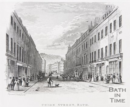 Union Street, Bath, c.1845
