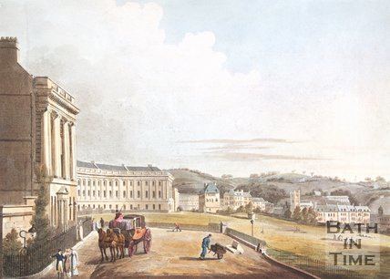 The Royal Crescent from Marlborough Buildings, Bath, 1804