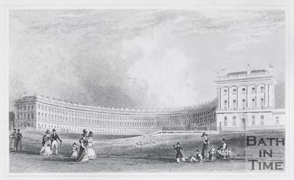 The Royal Crescent, Bath, 1829