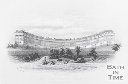 The Royal Crescent Bath. Taken from the Park, 1844