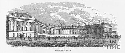 Royal Crescent, Bath, 1829