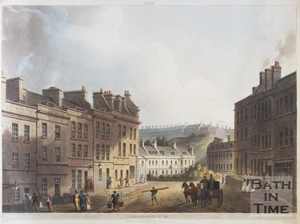 Bath (above). Marlborough St. & c, 1805