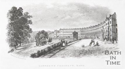 Lansdown Crescent, Bath, c.1845