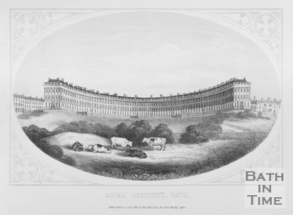 Royal Crescent, Bath, c.1857