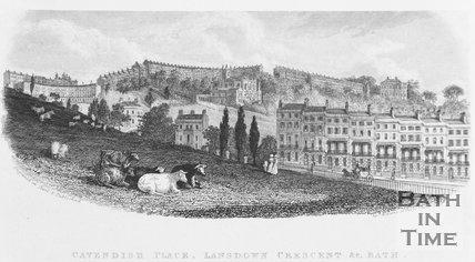 Cavendish Place, Lansdown Crescent & c. Bath, c.1837