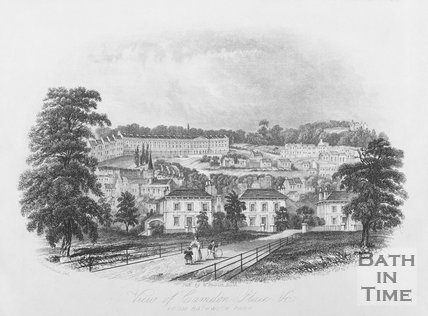 View of Camden Place & c. From Bathwick Park, Bath c.1844