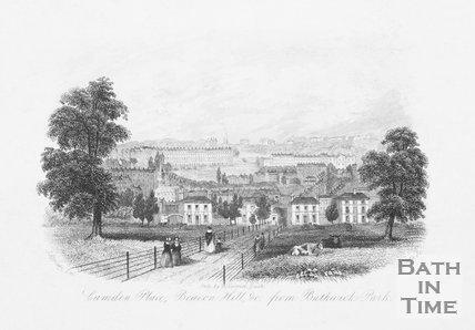 Camden Place, Beacon Hill, &c. from Bathwick Park, Bath, c.1850