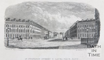 Gt. Pulteney Street & Laura Place, Bath, c.1837