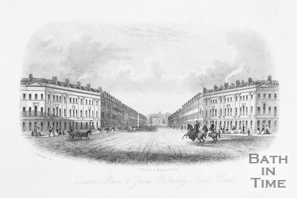 Laura Place & Great Pulteney Street, Bath, 1850