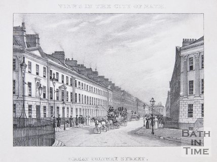 Great Pulteney Street. Above image: Views of the City of Bath, c.1830