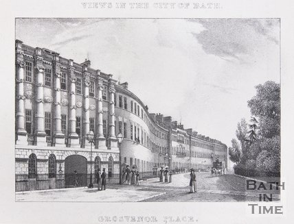 Grosvenor Place. Above: Views in the City of Bath, c.1830