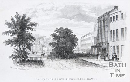 Grosvenor Place & College, Bath, c.1845