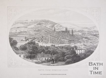 Bath from Beechen Cliff, c.1857