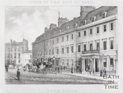 York House Hotel, George Street, Bath, 1829
