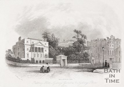 Pulteney Hotel, Sydney Gardens and Sydney Place, Bath, 1844