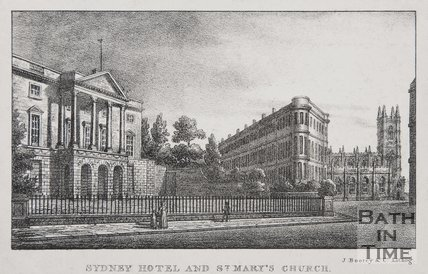 Sydney Hotel & St Marys Church, Bath, 1823