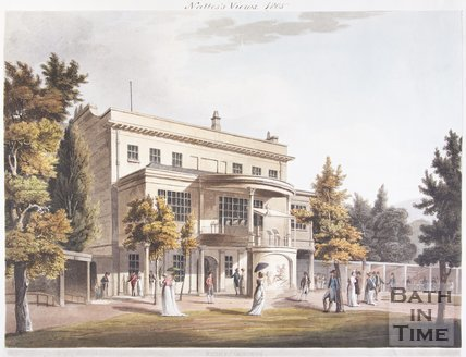 Sydney Gardens and rear of Sydney House (now Holburne Museum of Art), Bath, 1805