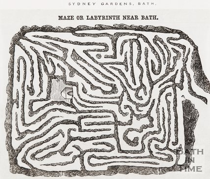 The maze or labyrinth at Sydney Gardens, Bath