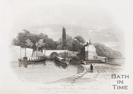 Starting place for the Scotch Boat. Near Sydney Gardens, Bath, 1844