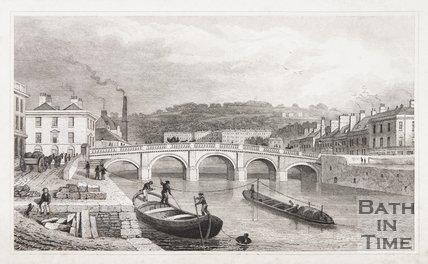 Jones' View The Old Bridge, Bath, 1829