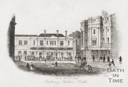 Railway Station, Bath, 1850