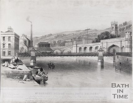 Mr Dredge's design for the Bath Bridge, 1850