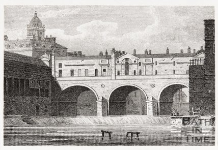 Pulteney Bridge and Weir, Bath, 1819