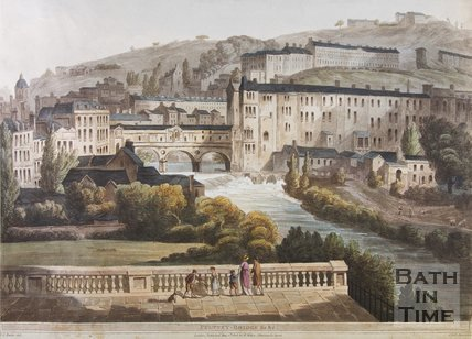Pulteney Bridge from North Parade, Bath, 1805