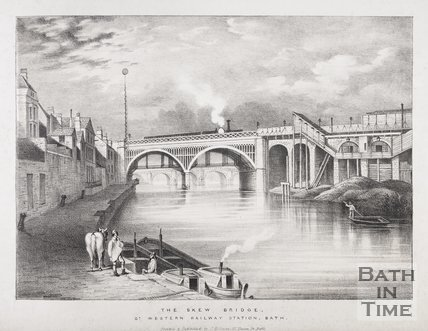 The Skew Bridge, Great Western Railway Station, Bath, 1840