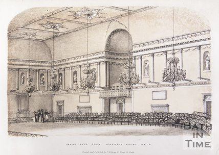 Grand Ball Room, Assembly Rooms, Bath, 1840