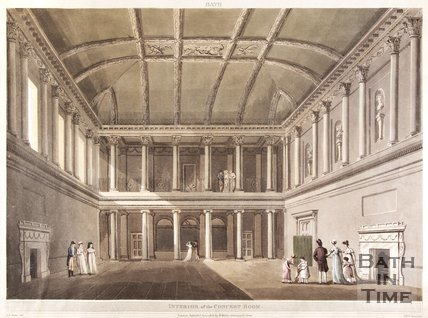 Interior of the Concert Room, Assembly Rooms, Bath, 1805