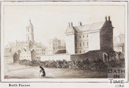 Bath Prison watercolour sketch, 1780