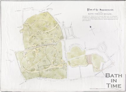 Plan of the Improvements on the Bath Common Estate, 1829