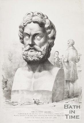 Colossal Head, Royal Victoria Park, Bath, 1839