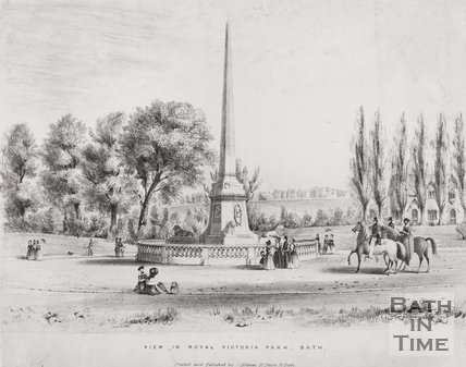 View in Royal Victoria Park, Bath, 1840