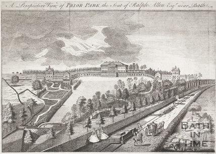Prior Park, the Seat of Ralph Allen Esq. near Bath, 1750