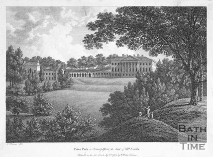 Prior Park in Somersetshire, Bath, the Seat of Mrs. Smith, 1785