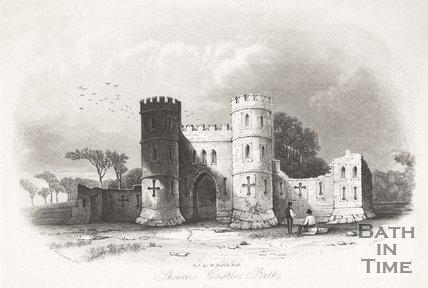 Sham Castle, Bath, 1844
