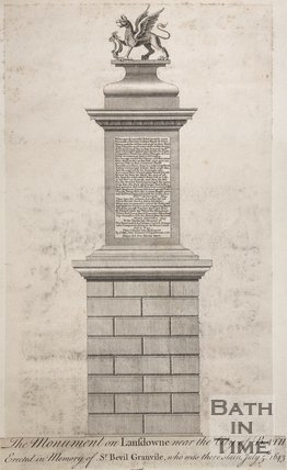 The Monument on Lansdowne near the city of Bath,