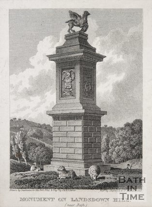 The Monument on Lansdowne Hill (near Bath), 1823