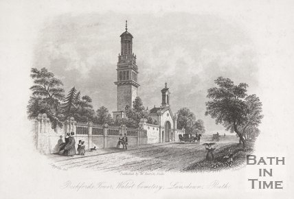 Beckford's Tower, Walcot Cemetery, Lansdown, Bath, 1850