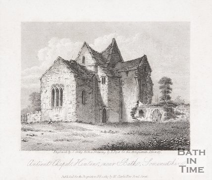 Ancient Chapel, Hinton, near Bath, Somersetshire, 1817