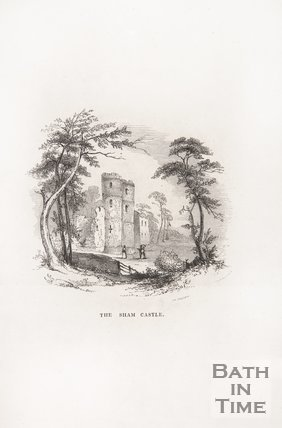 The Sham Castle, Bath, 1848