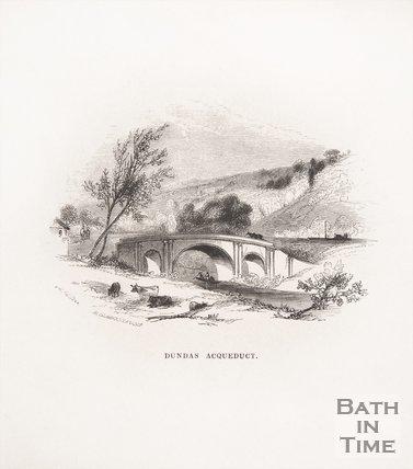 Dundas Aqueduct, Limpley Stoke, near Bath, 1848