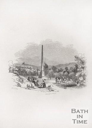 The Obelisk at Royal Victoria Park, Bath, 1848