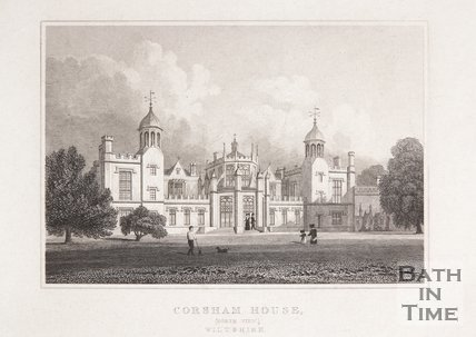 Corsham House (North view) Wiltshire, 1830